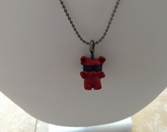 Naughty Bear has been really bad. This time he is screwed. New Naughty Bear necklace. Have you been naughty?
