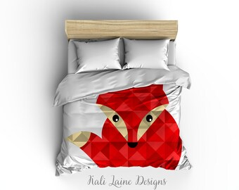 Fox Duvet Cover/ Comforter cover/  3 sizes available, king, queen, twin /bedding
