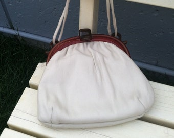 Vintage lucite and nappa leather bag