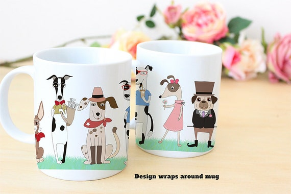 Coffee Mug Cute Dog Parade - Funny Mug - Dog Mug
