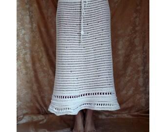 The skirt of cotton yarn, skirt, knit skirt, handmade, summer skirt,