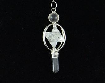 Clear Quartz Merkaba Pendulum