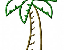 Palm Tree Embroidery Machine Applique - Instant Download - Monkey Doodle Digitizing