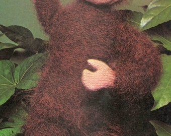 Toy Monkey Vintage Knitting Pattern