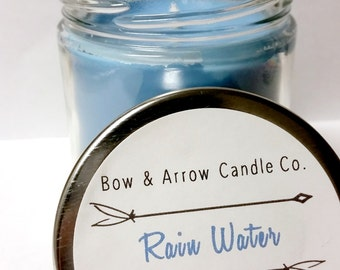 Natural Soy Candle Rain Water Scented | 7 oz Jar Candle | Rain Water Candle | Floral Candle | Scented Soy Candle | Gift Idea