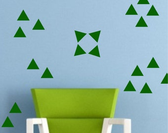 Triangle Wall Decal Sticker set for nursery boy girl room bedroom wall art decoration - REMOVABLE 1041