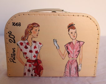 Hand painted bag/little case
