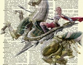 Final Fantasy Lightning Dictionary Art Print Poster featured image