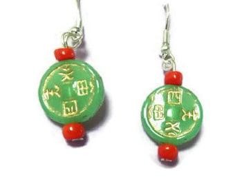 good luck dangle earrings