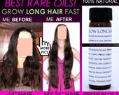 Leahs BEST Grow Long Hair FAST Herbal Oil Natural Hair Growth Energizer Product