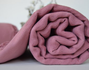 THROW BLANKET cotton-bamboo blended super soft. Can be used as throw, towel or even table cloth.