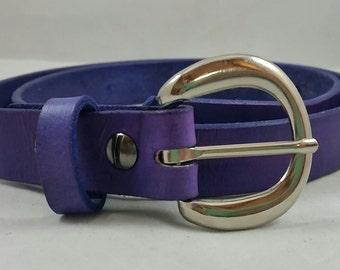 Handmade Women's Leather Belt