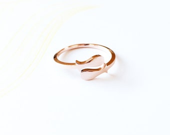 Horoscope Pisces Ring Band 18K Rose Gold Horoscope Adjustable Ring Stack Ring Multifinger Thumb Ring Simpe Creative Birthday Ring Gift