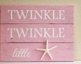 Twinkle Twinkle Little Star Starfish wall art - Starfish decor - Nautical Nursery