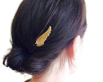 Gold Wing Hair Pins Bridal Bobby Pins Angel Wing Hair Clips Wing Bobby Pins Woodland Wedding Angel Costume Hair Pin Hair Accessories