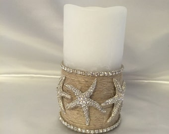 LED flameless candle,crystal,starfish
