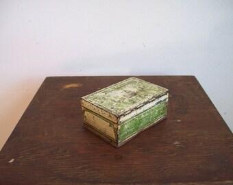 Antique tobacco tin small tin Yale smoking tobacco 1910's tobacciana 420 storage