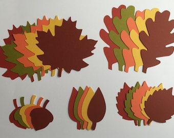 Leaves Set of 50 Die Cuts, Stampin' Up, Fall, Autumn, Card Making, Scrapbooking