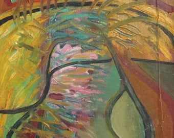 Expressionist vintage oil painting