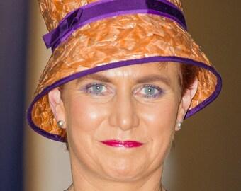 Vintage Raffia Occasion Hat