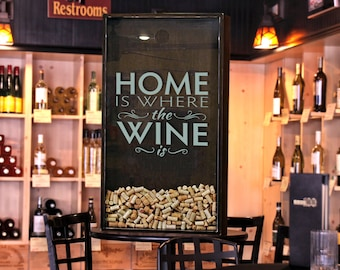 Wine Cork Holder Wall Decor 18x24 wine cork holder wedding gift shadow box house