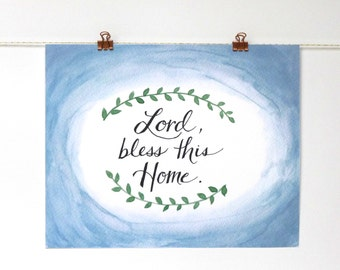8x10 print | home blessing