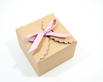 10 Kraft Paper Box Gift Boxes Favor Boxes Handmade Boxes Bakery Boxes Handmade Packaging Kraft Packaging