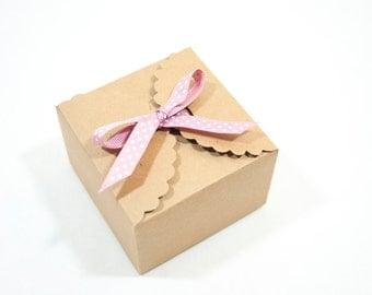 10 Kraft Paper Box Gift Boxes Favor Boxes Handmade Boxes Bakery Boxes Handmade Packaging Kraft Packaging