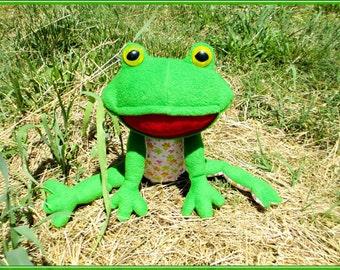 Soft toy pattern Stuffed frog pattern  Sewing frog pattern Soft toy frog Sewing toy pattern Stuffed toy pattern How to sew cute soft frog