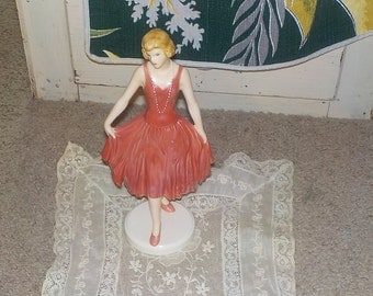 Lady in Red Dress Goebel W. Germany