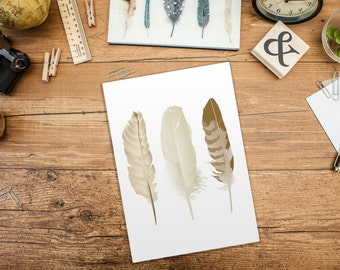 Feather Wall Art Brown Feather Prints Wall Art Feather Wall Print Brown Wall Prints Printable Feathers Bohemian Wall Art Feather Art Print