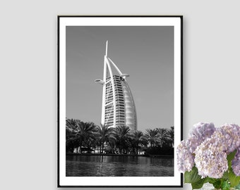 Dubai Printable Poster Dubai Print UAE Print Dubai Decor Wall Art Dubai Instant Download Burj Al Arab Print
