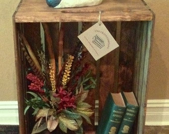 """Extra Large Wood Crate -  24""""L x 18""""W x 11 1/2""""D each - Bookcase - Bookshelf - Stacking Crate - Decorative Crate - Apple Crate"""