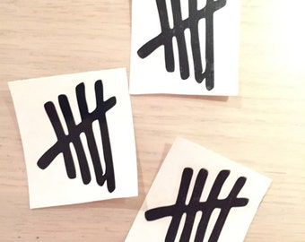 5SOS 5 seconds of summer vinyl decal sticker tally marks