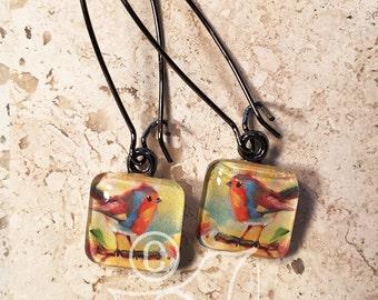 robin no.3 • original art earrings
