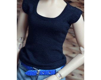Bjd Simple Black T shirt Free match for 1/6 yosd, 1/4 msd,1/3 SD16 IP EID Doll Clothes