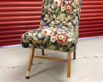Retro Chair : Vintage Sanderson Fabric