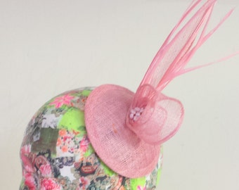 Pink Feather Fascinator SALE WAS 28.00