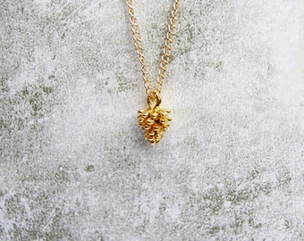 Gold Plated Pinecone Necklace