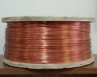 copper wire - 12 gauge copper wire - bare copper - 100 ft. spool