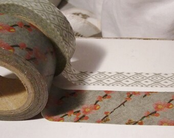 Washi Tape Samples - Japanese Cherry Blossom and Tribal / Can choose together or separate