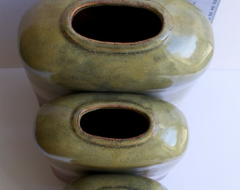 3 Ceramic Vases in different sizes