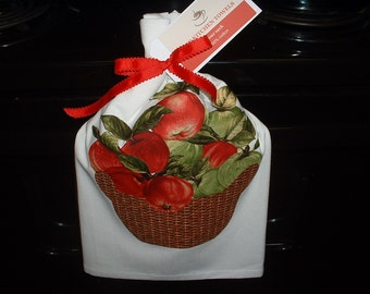 Apple Basket Kitchen Towels - FREE SHIPPING