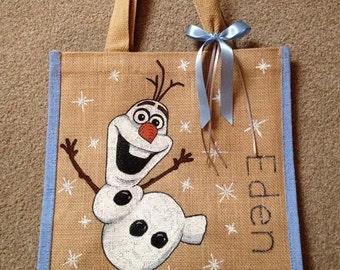 Jute Tote Bag - Olaf