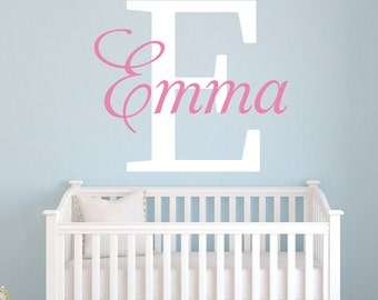 Name Wall Decal - Girl Custom Name Decal - Girl Room Decor - Nursery Wall Decals Vinyl