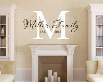 Family Name Wall Decal Personalized Family Monogram Living - Vinyl wall stickers custom