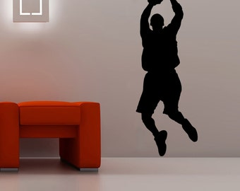Basketball Player Wall Decal Wall Stickers Large 160 cm X 58 cm, 5 Feet 3 inches