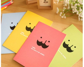 Notebook - Mr Babba (2pcs) | A5 notebook | Stationery Book | Moustache Face