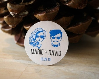 40 custom self-adhesive labels - trend hipster