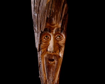 "Driftwood Carving, Tree Spirit, ""Solace"""